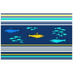set de table 28.5 x 43.5 cm pvc imprime blue lagoon
