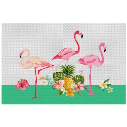 set de table 28.5 x 43.5 cm pvc imprime flamingo beach