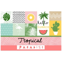 set de table 28.5 x 43.5 cm pvc imprime sweet paradise