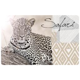 set de table 28.5 x 44 cm polypropylene opaque guepard
