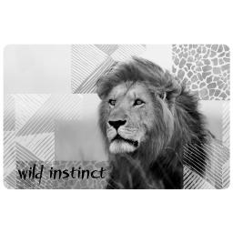 set de table 28.5 x 44 cm polypropylene opaque lion