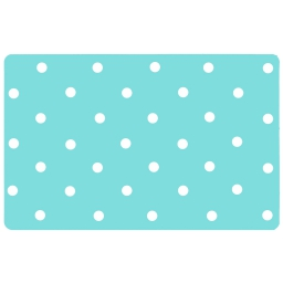Set de table 28.5 x 44 cm polypropylene opaque lollypop Aqua