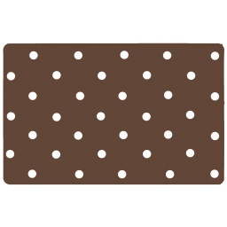 Set de table 28.5 x 44 cm polypropylene opaque lollypop Choco