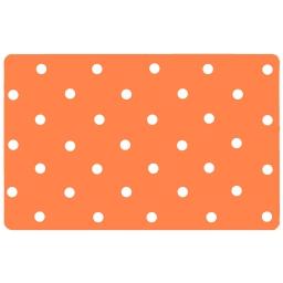 Set de table 28.5 x 44 cm polypropylene opaque lollypop Orange