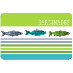 Set de table 28.5 x 44 cm polypropylene opaque sardinades Vert