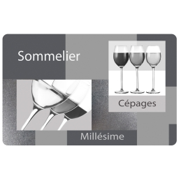 set de table 28.5 x 44 cm polypropylene opaque sommelier