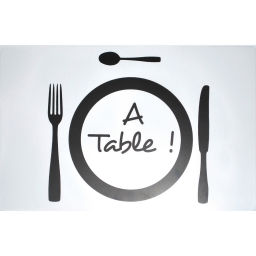 set de table 28.5 x 44 cm polypropylene transparent a table