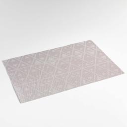 Set de table 30 x 45 cm pvc bicolore trigone Gris
