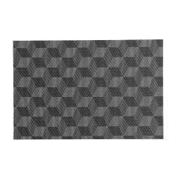 Set de table 30 x 45 cm pvc cubiz Noir/blanc