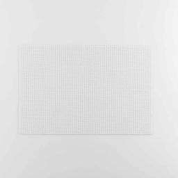 Set de table 30 x 45 cm pvc+fils metallises argentor Blanc/argent