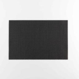 Set de table 30 x 45 cm pvc+fils metallises argentor Noir/or