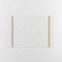 Set de table 30 x 45 cm pvc+fils metallises goldira Blanc/or