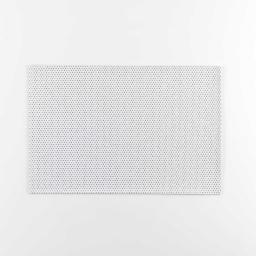 Set de table 30 x 45 cm pvc uni paillettes luxurious Blanc/argent