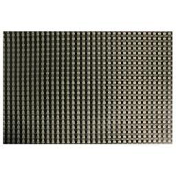 Set de table 32 x 47 cm pvc tresse Taupe/Noir