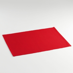Set de table 33x45 coton uni saliere Rouge