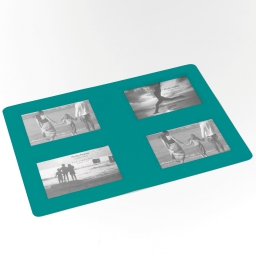 Set de table photos rectangle 29 x 42 cm polypropylene souvenirs Bleu