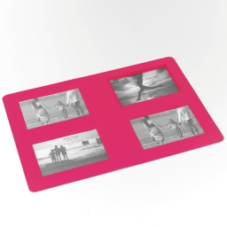 Set de table photos rectangle 29 x 42 cm polypropylene souvenirs Rose
