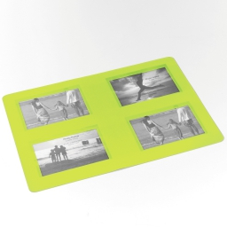 Set de table photos rectangle 29 x 42 cm polypropylene souvenirs Vert