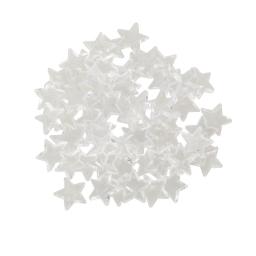 set of 60 sequin etoiles par sachet-couleur blanche-d1,1cm