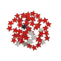 set of 60 sequin etoiles par sachet-couleur rouge-d1,1cm