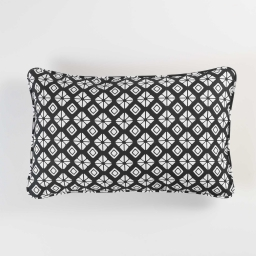 So coussin 30 x 50 cm coton imprime graphic home Noir