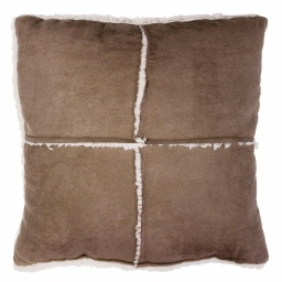 So coussin 40 x 40 cm suede/sherpa inuit Daim