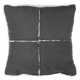 So coussin 40 x 40 cm suede/sherpa inuit Gris
