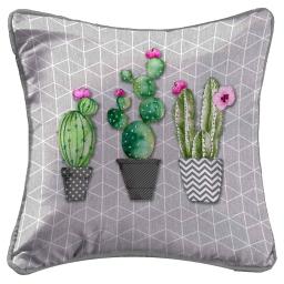 so coussin passepoil 40 x 40 cm fils coupes imprime love cactus