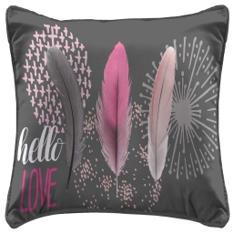 So coussin passepoil 40 x 40 cm fils coupes imprime pink dream Anthracite