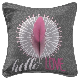 So coussin passepoil 40 x 40 cm fils coupes imprime pink dreamer Anthracite