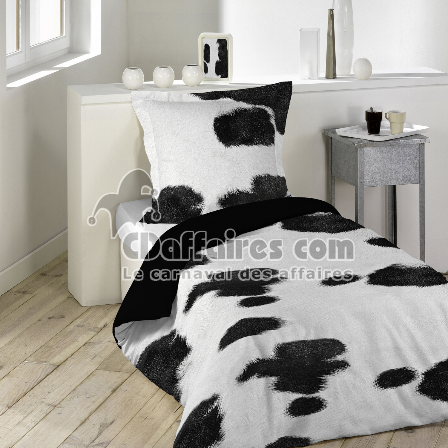 housses de couette 140x200 cm cdaffaires. Black Bedroom Furniture Sets. Home Design Ideas