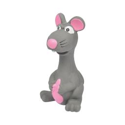 souris pour chien en latex grise - 14.5*8cm