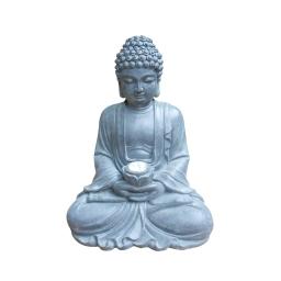 statue bouddha solaire 26.5*20.5*h34cm