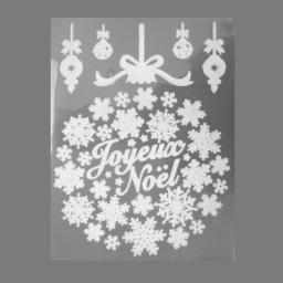 sticker floque couronne pvc l40*l0.01*h29.5cm blanc