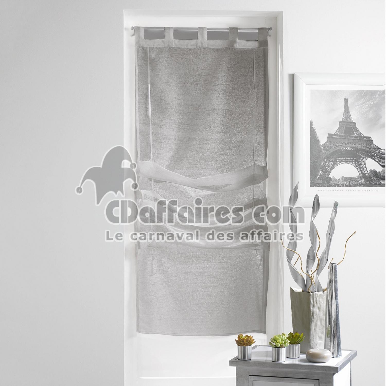store droit a passants 45 x 180 cm voile sable lissea. Black Bedroom Furniture Sets. Home Design Ideas
