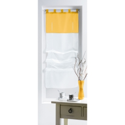 Store droit a passants 90 x 180 cm voile bicolore magik Blanc/Soleil