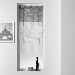 Store droit a passants 90 x 180 cm voile uni+top imprime tunis Anthracite