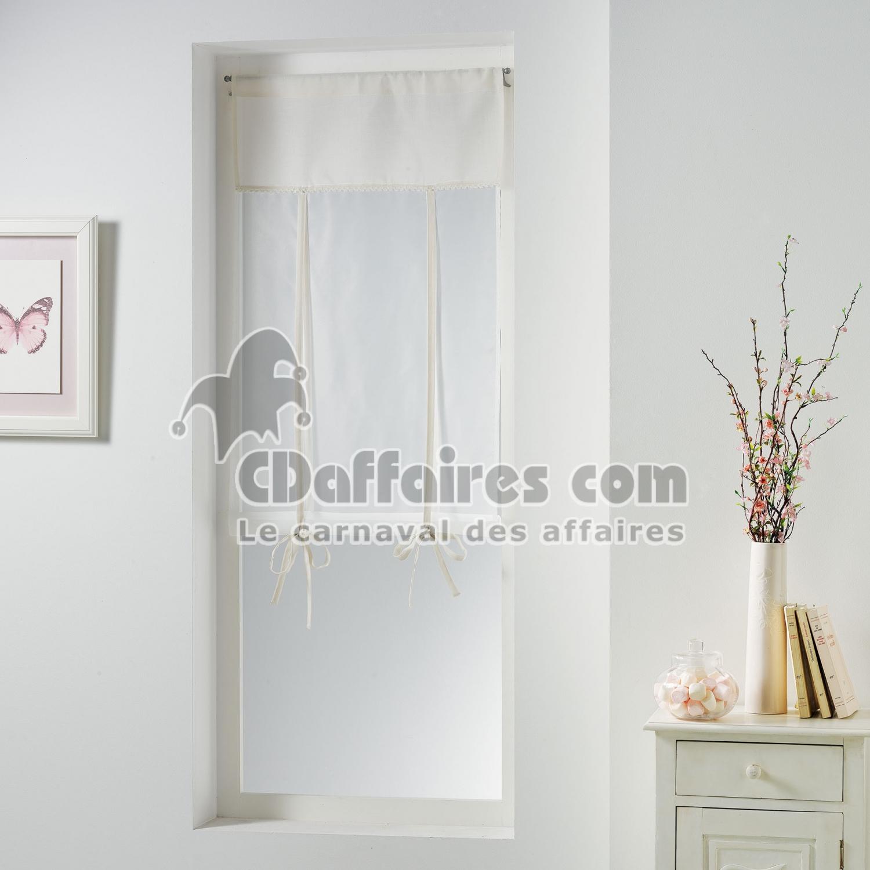 store droit passe tringle 60 x 150 cm polyester uni dentelle femina naturel cdaffaires. Black Bedroom Furniture Sets. Home Design Ideas