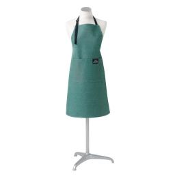 Tablier +poche 60 x 84 cm chambray uni harold Vert