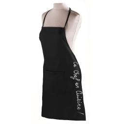 Tablier +poche 60 x 84 cm coton cuistot Noir