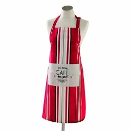 tablier +poche 70 x 85 cm coton imprime bistrot chic