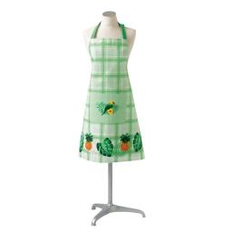 Tablier +poche 70 x 85 cm coton imprime perococo Vert