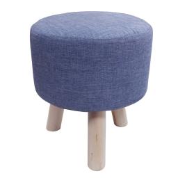 Tabouret (0) 32 cm x ht 36 cm chambray uni newton Bleu