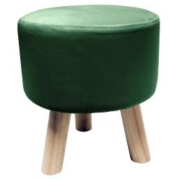 Tabouret (0) 32 cm x ht 36 cm velours uni swart Vert