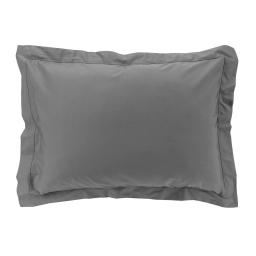 Taie d'oreiller 50 x 70 cm en percale uni 78 fils percaline Anthracite