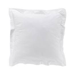 Taie d'oreiller 63 x 63 cm en percale uni 78 fils Blanc