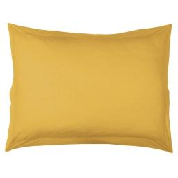 Taie d'oreiller volant plat 50 x 70 cm uni 57 fils lina  + point bourdon Miel