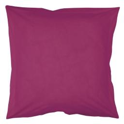 Taie d'oreiller volant plat 63 x 63 cm uni 57 fils lina  + point bourdon Violette