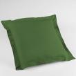 Taie d'oreiller volant plat 63x63 cm uni 57 fils lina  +point bourdon Vert sapin, image n° 1