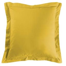 Taie d'oreiller volant plat 80 x 80 cm uni 57 fils lina  + point bourdon Miel